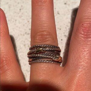 David Yurman X cable ring